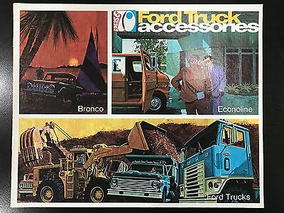 """VINTAGE AUTHENTIC 1970 Ford """"IDEAS"""" Ford Truck Accessory dealer catalog brochure"""