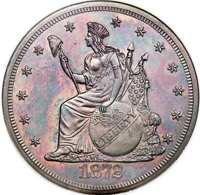 1872 Judd-1216 T$1 Commercial Dollar Pattern / Ngc Pf65 Bn Low R.7
