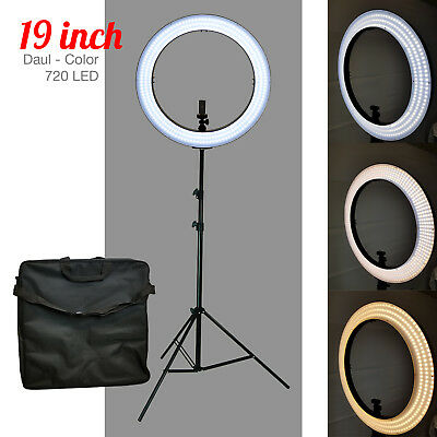"50W 240PCS LED 18"" Outer Ring Light 5500K Dimmable+Universal Adapter w/US Plug"