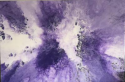 Modern Original Abstract Canvas Painting Purple White  Dee's Funky Art