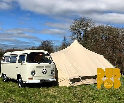 VW T2 Campervan - DubPod Drive Away Canvas Awning by Bell Tent Boutique