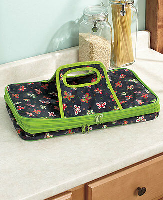 BUTTERFLY EXPANDABLE HOT COLD INSULATED FOOD CASSEROLE DISH CARRIER Park Picnic