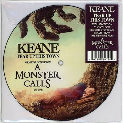 """KEANE Tear up this Town - 7"""" / Picture Vinyl - RSD 2017 - OST / A Monster Calls"""
