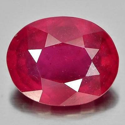 3.3ct NATURAL Blood Red RUBY Oval Cut 10x8mm VS PRECIOUS LOOSE GEMSTONE (32)