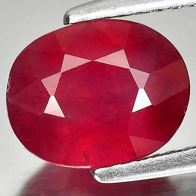 3.7ct NATURAL VS Blood Red RUBY Oval Cut 10x8mm PRECIOUS LOOSE GEMSTONE (31)