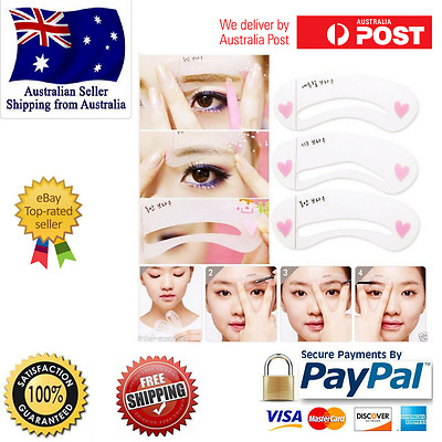 Set Template Shaping Stencils Eye Kit Brow Grooming Reusable New Eyebrow Stencil