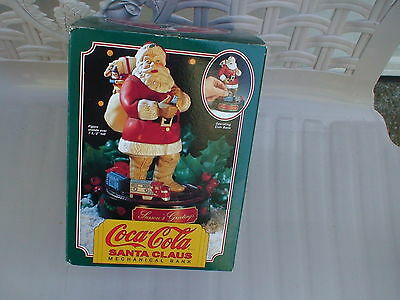 Coca Cola Coke Santa Claus Mechanical Bank by Ertl Company