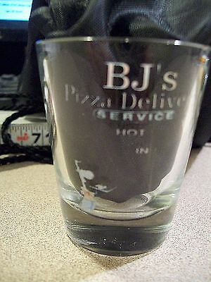 BJ's Pizza Delivery Service Shot Glass, Nice!!!!