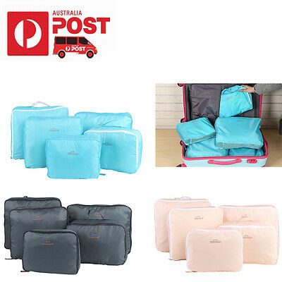 Set of 5 Travel Luggage Bag Organiser Toiletry Shoe Case Tidy Bags Pouch Storage