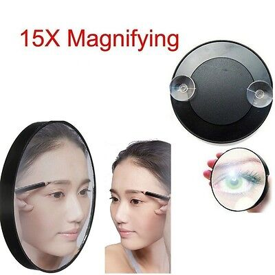 """15X Magnifying Mirror 3.5"""" Suction Cup Beauty Makeup Face Bathroom Home HOT"""