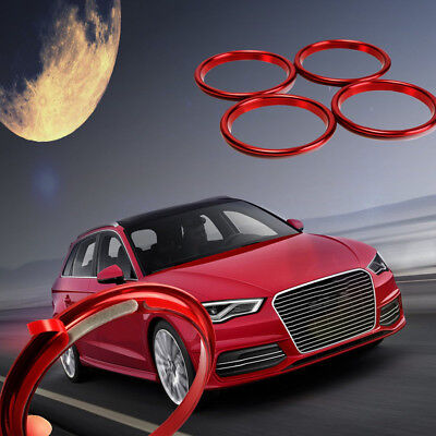 4Pcs Stainless Steel Interior Heater Air Vent Outlet Ring Cover Trim For Audi A3