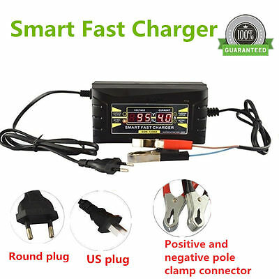 12V 6A Smart Fast Lead-acid Battery Charger for CAR Motorcycle LCD Display US