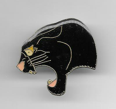 Vintage Head of a Black Panther old enamel pin