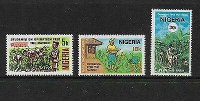 NIGERIA - mint 1978 Operation Feed the Nation, set of 3, MNH MUH