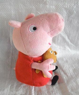 *1616a*  TY Original Beanie Babies Collection 2014 - Peppa Pig with teddy