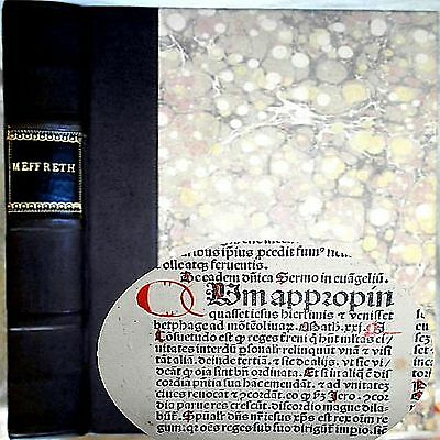 1487 Incunable Sermons Saints Meffreth 1St Edition Medieval Bible God Jesus Hel