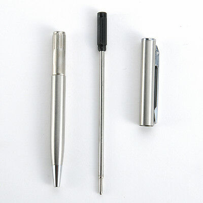 1Pc Unisex Stainless Steel Ballpoint Pen Students Office Stationery Supplies New