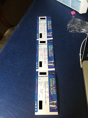 Three Champions Cup Final Tickets Face Value