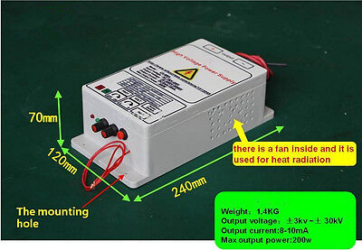 high voltage power supply with 30KV output for removing smoke lampblack