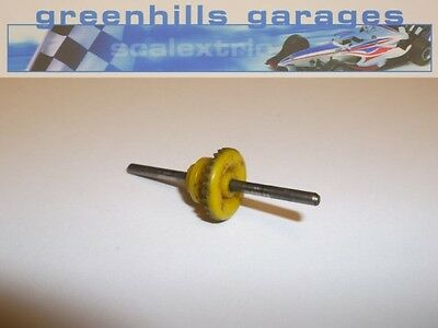 Greenhills Scalextric Mini 1275 GT C122 Rear Axle 43mm & Gear Wheel Yellow Us...