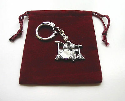 Drum Kit Keyring Collectable Music Gift Rock Musician Pop Rock Jazz Country Band