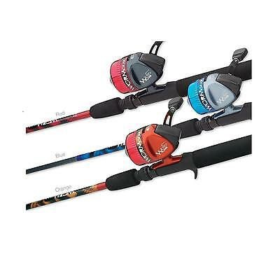 South Bend Red Worm Gear Fishing Rod & Spincast Reel Combo - Fiberglass Blank