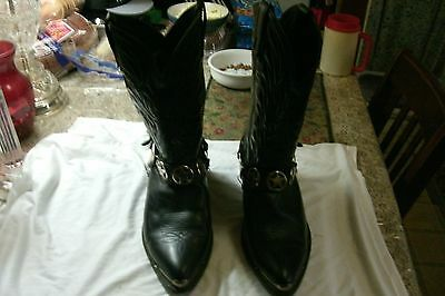 Cowboy Boots From Real Cowboy Tons Of Sharp Looking Wear Left  From Top Seller