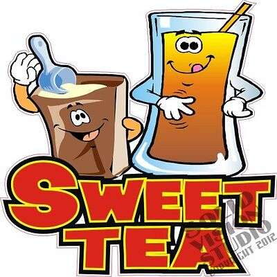 "12"" Sweet Tea Ice Iced Cold Drinks Food Truck Restaurant Sign Concession Decal"