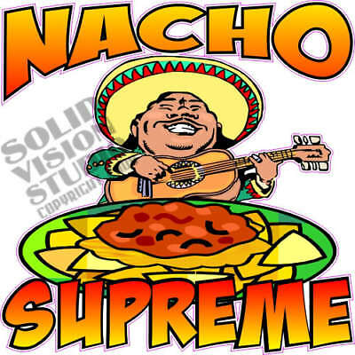 """7"""" Nacho Supreme Cheese & Chips Concession Trailer Food Truck Vinyl Sign Decal"""