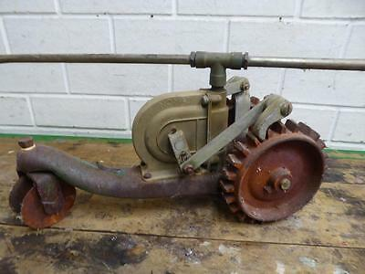 """Old Tools Antique Vintage Cast Iron Rare Wa """"nomad"""" Travelling Tractor Sprinkler"""