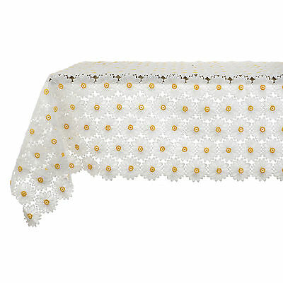 Tovaglia Pizzo Margherite  Shabby chic Daisy Collection Blanc Mariclo' 150 x 220