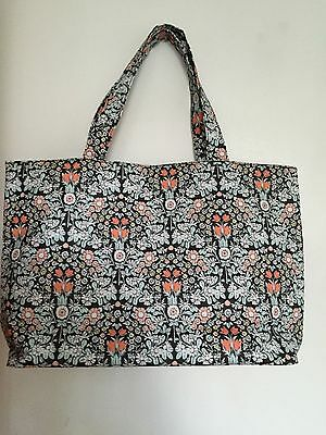 John Lewis Daisy Print bag tote/shopping/knitting/sewing etc RRP £20 wipe clean