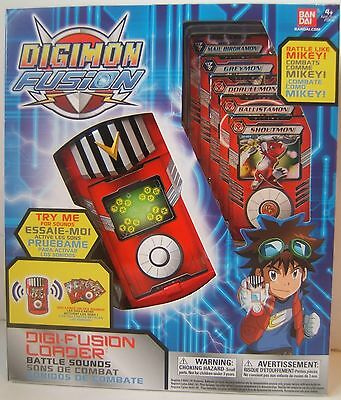 Digimon Digi Fusion Loader Card Battle Sounds Brand New Sealed Bandai 2013