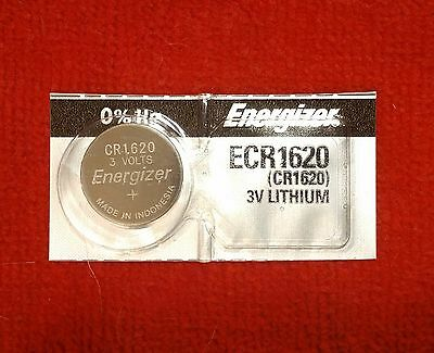 FRESH Energizer CR1620 3V Lithium Coin Cell Battery 1-Pc Exp. 2026