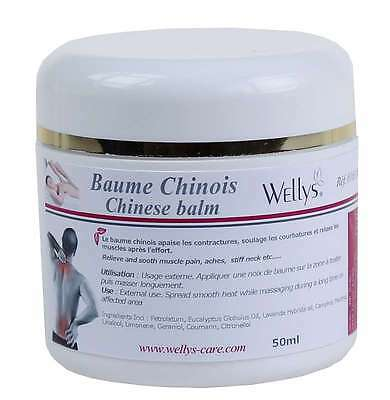 Wellys R016310 China Tensions Crème Massage Baume 50 Ml Douleurs Musculaires