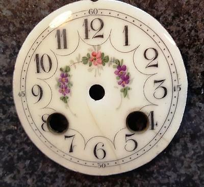 19th Fancy French Porcelain Clock Dial 3 1/8 inches in diameter