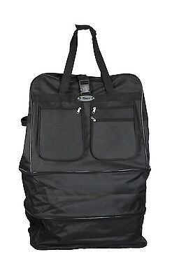 EAGLE Extra Large 40 Inch Wheeled Cargo Folding Holdall Travel Duffel Bag With 6