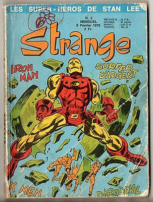 ~*~ STRANGE n°2 ~*~ 1970 LUG ~*~ X-MEN / IRON-MAN / DAREDEVIL / SILVER SURFER