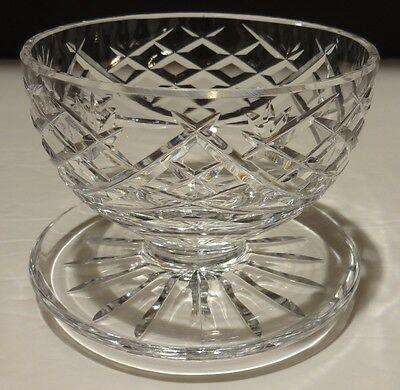 1 Rare Vintage Waterford Crystal Avoca Footed Grapefruit Dessert Dish