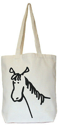 Moorland Rider Horse Stuff Shopper Bag - Natural - Gifts