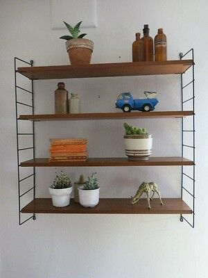 Vintage Mid Century String Shelving Unit 20th Century Modular Shelving Unit
