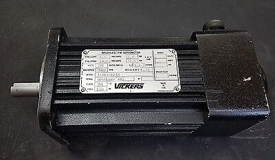 Vickers Brushless P.m. Servo Motor Model 1-604-0211 Used Excellent Condition