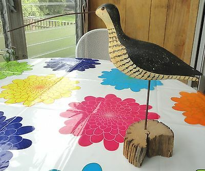 Lg Hand Carved Painted Wood Mounted Shore Bird Sculpture Decoy Richard Morgan CT