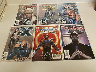 Lot of 6 Marvel Weapon X Comics Direct Edition #4,5,6,7,8,9