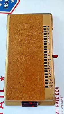 Vintage Bates List Finder Rolodex Telephone Phone Number Directory Model K 19201