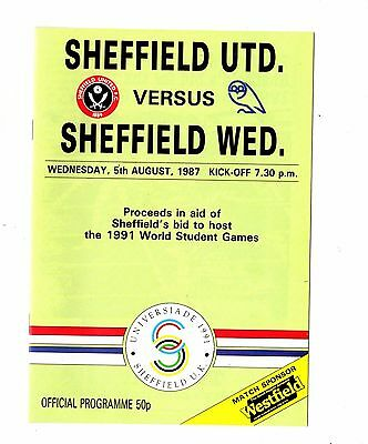 1987 - 1988 Sheffield United v Sheffield Wednesday Friendly