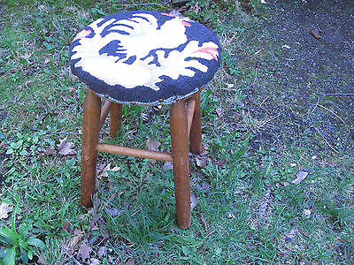 Totally Charming Upholstered Antique Stool