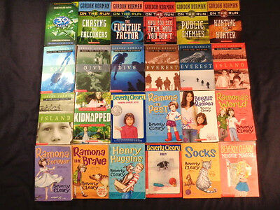 Lot of 129 Chapter Books 4th 5th 6th grade: Cleary, Haddix, Rodda, Blume, Korman