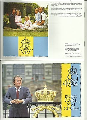 SWEDEN ~ 1986 KING CARL XVI GUSTAV 40th BIRTHDAY