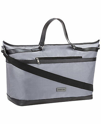 Kenneth Cole Duffle Gray Black extra large Weekender Travel Gym Overnight Bag